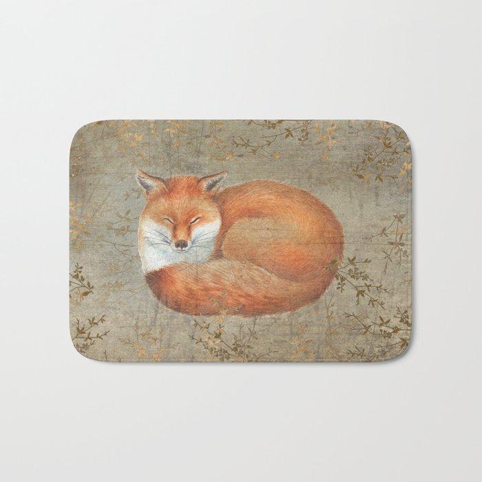Red fox among thorns Bath Mat