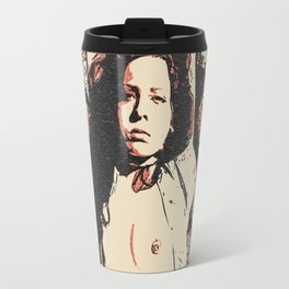 Let's play naughty in the forest, BDSM erotic, sexy amateur girl tied to tree, submissive woman Travel Mug