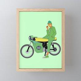 Motor Bike Framed Mini Art Print