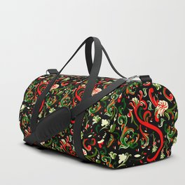 Swirly Trendy_Black Duffle Bag