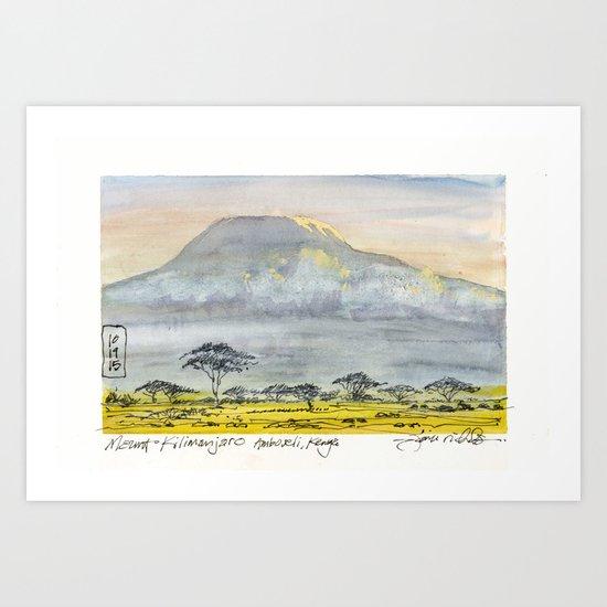 Kilimanjaro at Sunset by jamesrichardssketchbook