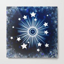 Evening Starburst Metal Print