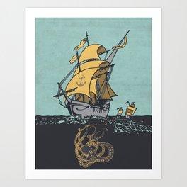 The Secrets of the Sea Art Print
