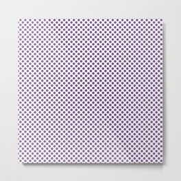 Royal Lilac Polka Dots Metal Print