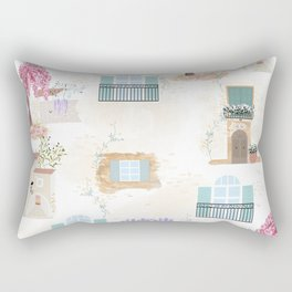 French country balconies and facades Rectangular Pillow