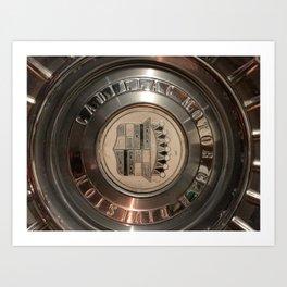 1955 hub cap Art Print