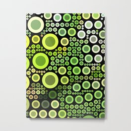 Jade Green Bubbles Metal Print
