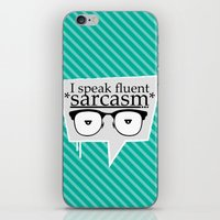 sarcasm iPhone & iPod Skins featuring Sarcasm by Daniac Design