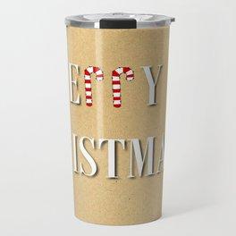 Merry Christmas Candy Cane  Travel Mug