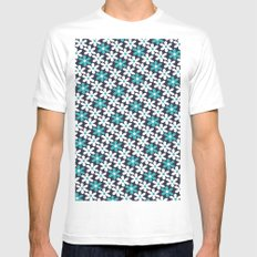 abstract flower pattern MEDIUM White Mens Fitted Tee