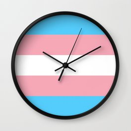 Trans Pride Flag - Ally I'll Go With You Wall Clock