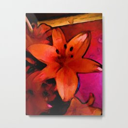Still Life with an Orange Lily Metal Print