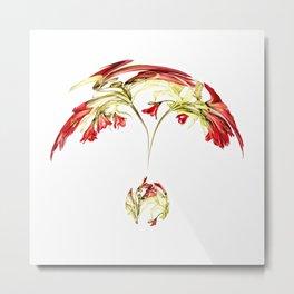 Warped Parrot Lily Metal Print