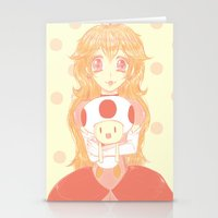princess peach Stationery Cards featuring Princess Peach by Nada Baker