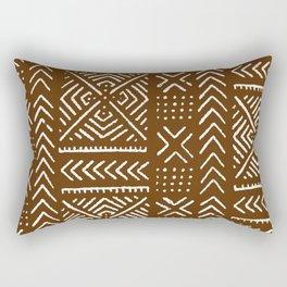 Line Mud Cloth // Brown Rectangular Pillow