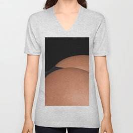 Young Woman in black panties, Close up beautiful buttocks. Unisex V-Neck