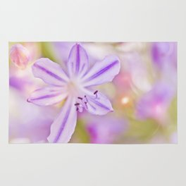 Summer dance - macro  floral photography Rug