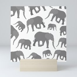 Elephant Pattern Design Mini Art Print