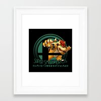 smash bros Framed Art Prints featuring Bowser - Super Smash Bros. by Donkey Inferno