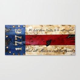1776 Bennington Flag Canvas Print