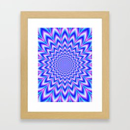 Psychedelic Pulse in Blue and Pink Framed Art Print