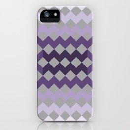 Grey Purple Quilt iPhone Case