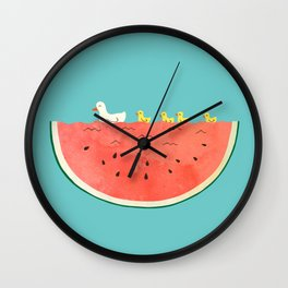 duckies and watermelon Wall Clock