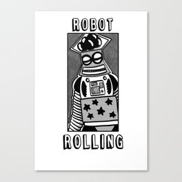 robot rolling Canvas Print