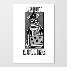 robot rolling Canvas Print