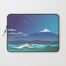 Mont Taranaki From The Sea Laptop Sleeve