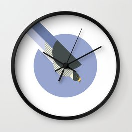 Peregrine Falcon vector illustration Wall Clock