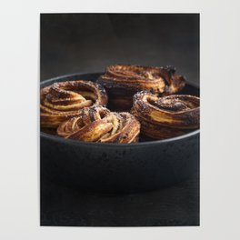Fresh baked cruffins Poster