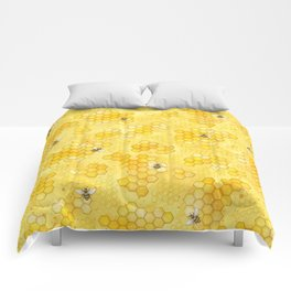 Meant to Bee - Honey Bees Pattern Comforters