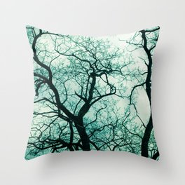 Gnarly Tree Throw Pillow