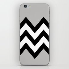 GRAY COLORBLOCK CHEVRON iPhone & iPod Skin