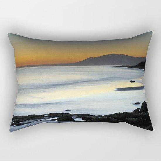 """""""Serenity beach"""". Orange sunset Rectangular Pillow"""
