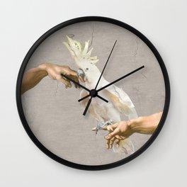 love hurts - cockatoo Wall Clock