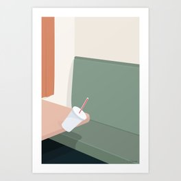 DET FRIE FALD Art Print