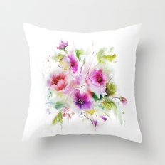 Gentle bouquet Throw Pillow