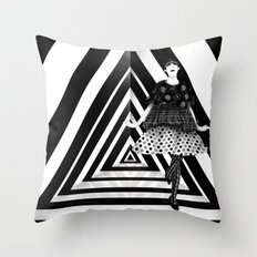 The Many Faces of Peggy Moffitt Throw Pillow