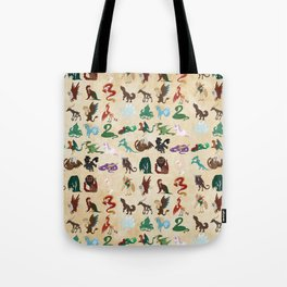 Mythical Creatures Pattern Tote Bag