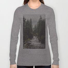Mountain creek - Landscape and Nature Photography Long Sleeve T-shirt