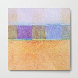 Amber and Mauve Square Collage Metal Print