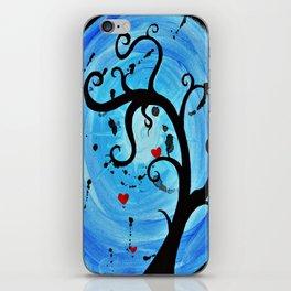 Blue Wishing Tree iPhone Skin
