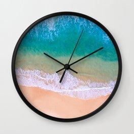 Ariel Beach Scene Wall Clock