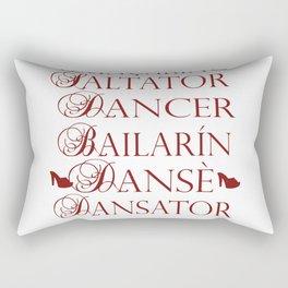 Dancer in multiple languages Romanian Portuguese Haitian Creole Latin Spanish Rectangular Pillow