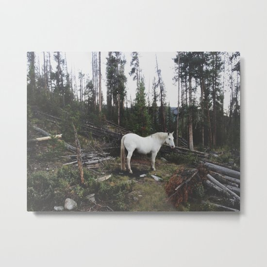 The White Horse Metal Print