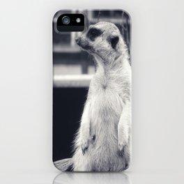 The Observent Meerkat iPhone Case