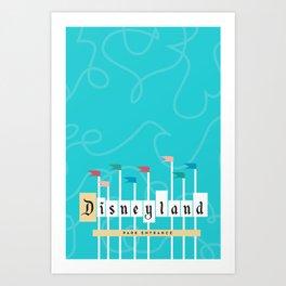 Park Entrance | Disney inspired Art Print