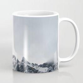 Sharp edges of mountains and soft clouds Coffee Mug